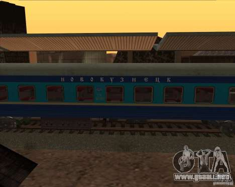 Coches del asiento reservado Sheffield para GTA San Andreas left