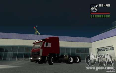 MAZ-643068 para GTA San Andreas