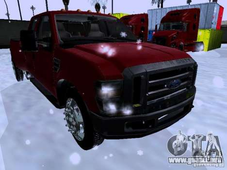 Ford F-350 Super Duty para GTA San Andreas left
