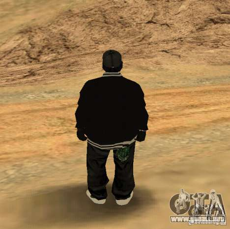 Piel Ryder para GTA San Andreas segunda pantalla