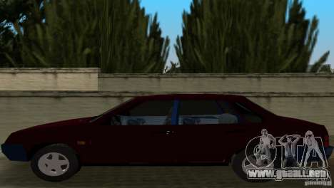 VAZ 21099 para GTA Vice City vista posterior