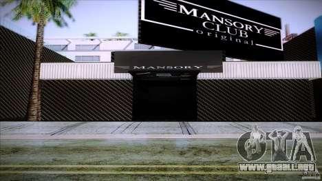Mansory Club Transfender & PaynSpray para GTA San Andreas segunda pantalla