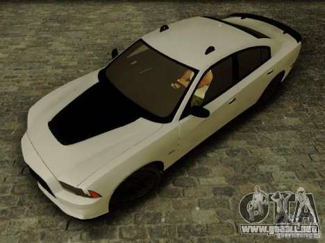 Dodge Charger SRT8 2012 para GTA San Andreas vista posterior izquierda
