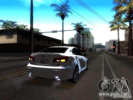 Lexus IS F para visión interna GTA San Andreas