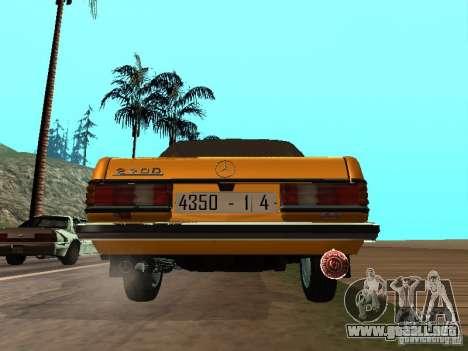 Mercedes-Benz 240D Taxi para la visión correcta GTA San Andreas