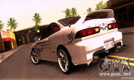 Honda Integra Tunable para visión interna GTA San Andreas