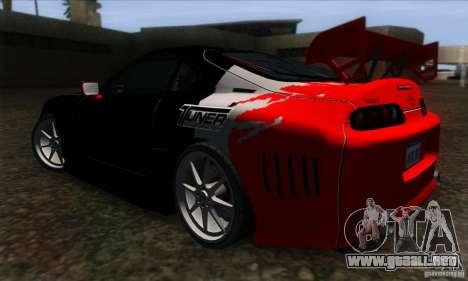 Toyota Supra Tunable para visión interna GTA San Andreas