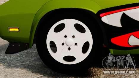 Dodge Charger RT SharkWide para GTA 4 vista hacia atrás