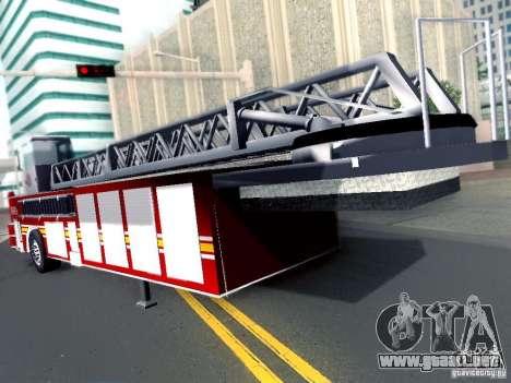 Remolque para motoazada Seagrave Truck para GTA San Andreas