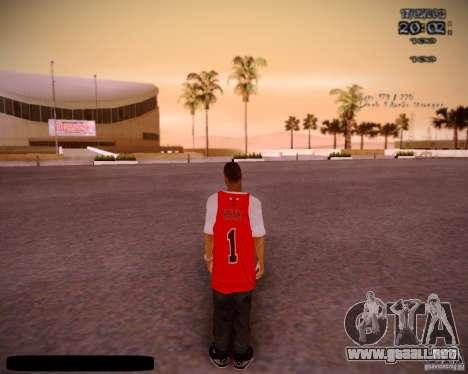 Piel Chicago Bulls para GTA San Andreas tercera pantalla