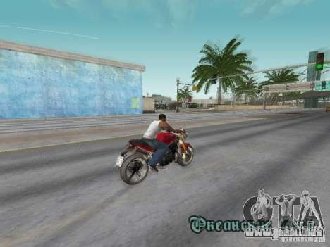 Bike Triumph para vista lateral GTA San Andreas