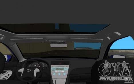 Toyota Camry 2007 para GTA Vice City vista superior