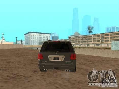 Lincoln Navigator 2004 para GTA San Andreas vista posterior izquierda