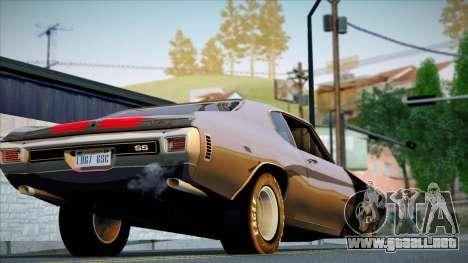 Chevrolet Chevelle SS 454 1970 para GTA San Andreas vista hacia atrás