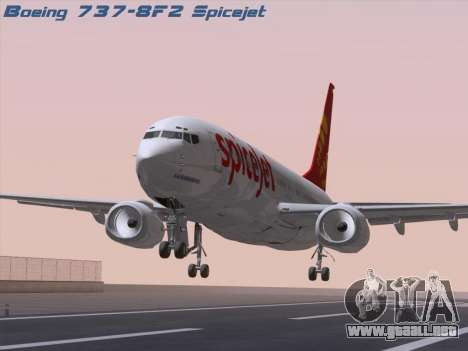 Boeing 737-8F2 Spicejet para GTA San Andreas