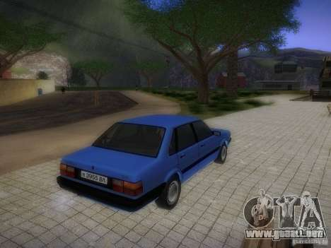 Audi 80 1987 V1.0 para visión interna GTA San Andreas