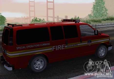 Chevrolet Express Special Operations Command para GTA San Andreas left
