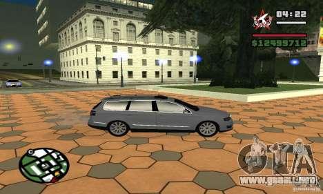 Volkswagen Passat B6 Variant para GTA San Andreas vista posterior izquierda