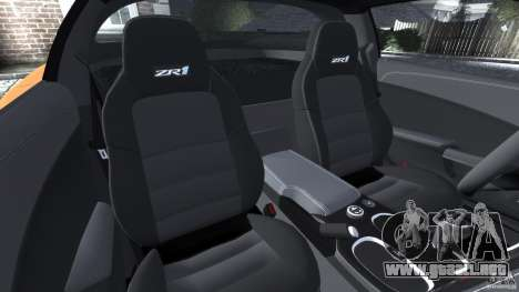 Chevrolet Corvette ZR1 para GTA 4 interior