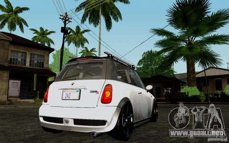 Mini Cooper S Tuned para la visión correcta GTA San Andreas