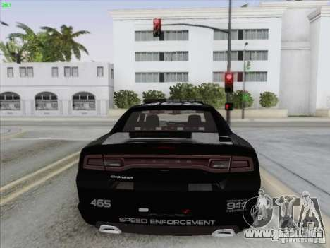 Dodge Charger 2012 Police para vista inferior GTA San Andreas
