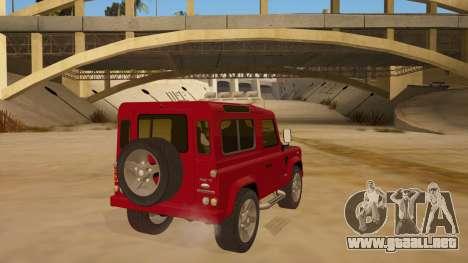 Land Rover Defender para la visión correcta GTA San Andreas