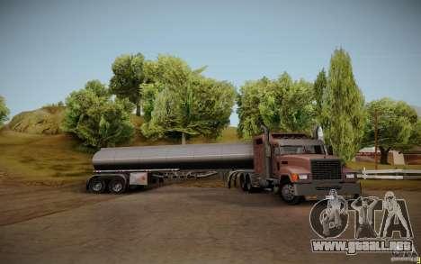 Caravana de cuero crudo de Mack Pinnacle Edition para GTA San Andreas vista hacia atrás