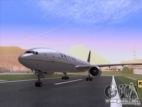 Boeing 777-200 United Airlines para GTA San Andreas