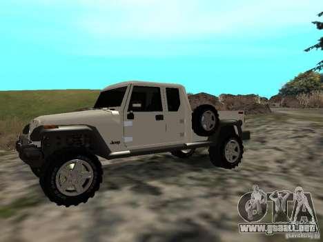 Jeep Gladiator para GTA San Andreas left