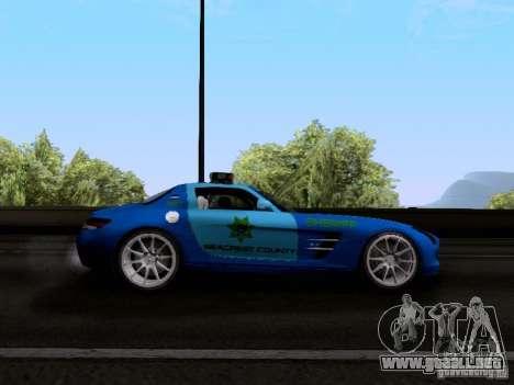 Mercedes-Benz SLS AMG Blue SCPD para GTA San Andreas vista hacia atrás