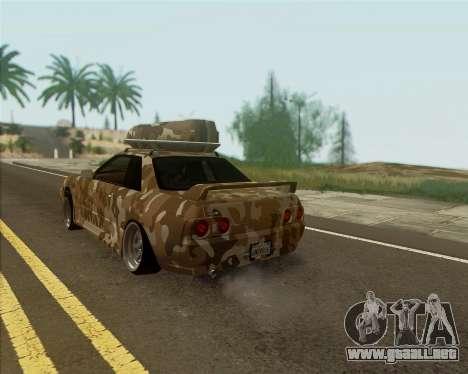 Nissan Skyline R33 Army para GTA San Andreas left