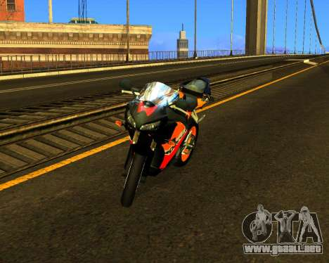 HONDA CBR 1000RR Repsol para visión interna GTA San Andreas