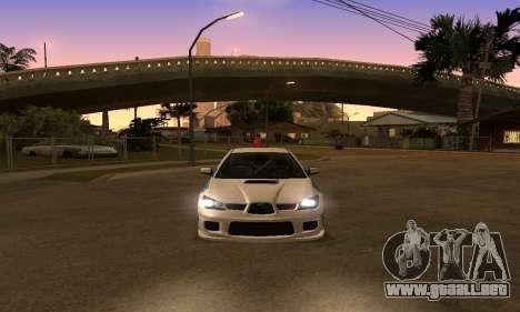 Subaru Impreza WRX STi 2006 para la visión correcta GTA San Andreas