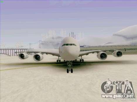 Airbus A380-800 para vista lateral GTA San Andreas