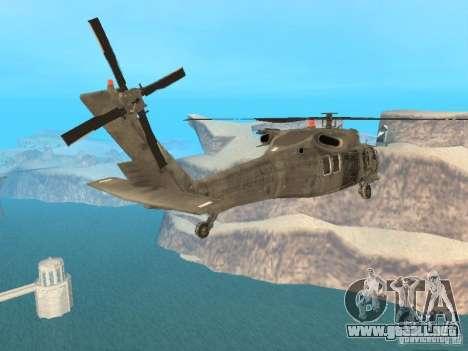 El UH-60 de COD MW3 para GTA San Andreas left