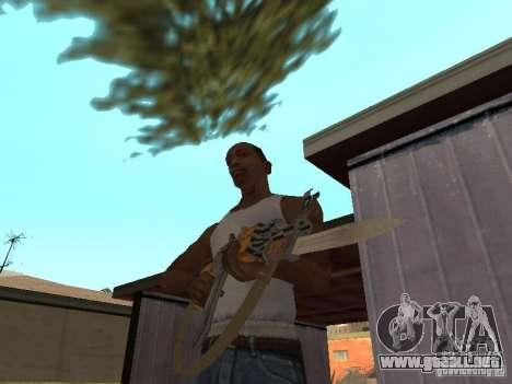 AK 47 con un cuchillo bayoneta HD para GTA San Andreas segunda pantalla