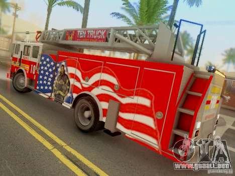 Seagrave FDNY Ladder 10 para GTA San Andreas left