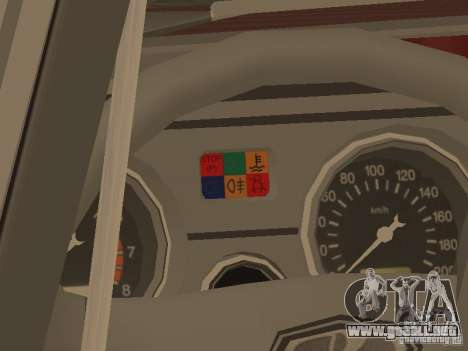 VAZ 2104 v. 2 para GTA San Andreas vista hacia atrás