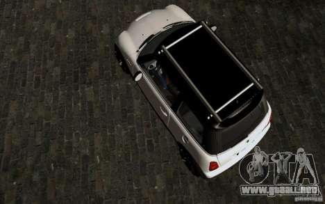 Mini Cooper S Tuned para visión interna GTA San Andreas