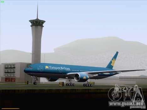 Boeing 777-2Q8ER Vietnam Airlines para la vista superior GTA San Andreas