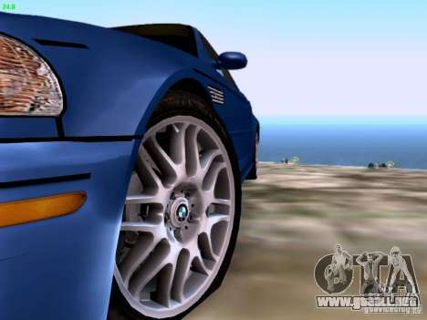 BMW M3 Tunable para GTA San Andreas vista hacia atrás