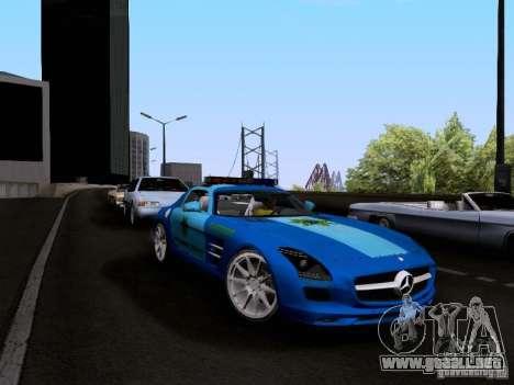 Mercedes-Benz SLS AMG Blue SCPD para la visión correcta GTA San Andreas