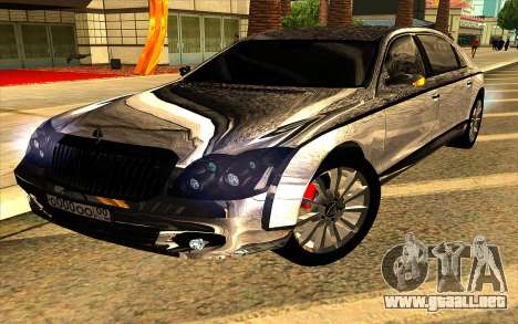 Maybach 62 para vista lateral GTA San Andreas