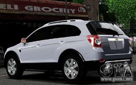 Chevrolet Captiva 2010 para GTA 4 visión correcta