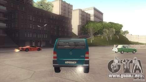 Mercedes-Benz Vito 112 para la visión correcta GTA San Andreas