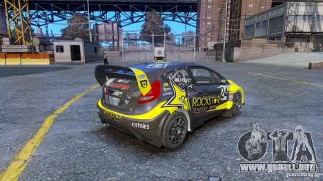 Ford Fiesta Rallycross para GTA 4 Vista posterior izquierda