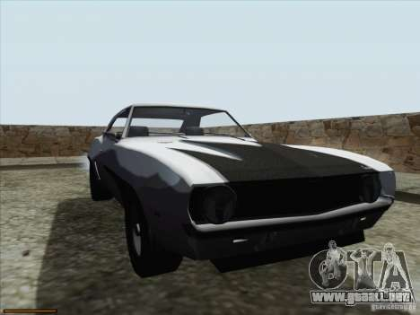 Chevrolet Camaro 1969 para vista inferior GTA San Andreas