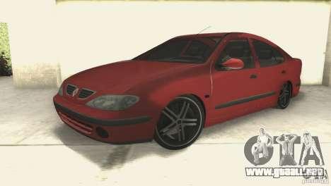 Renault Megane 2000 para la visión correcta GTA San Andreas