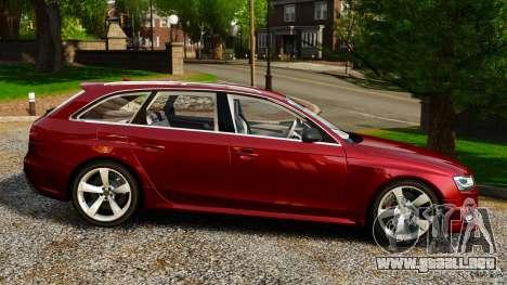 Audi RS4 Avant 2013 para GTA 4 left