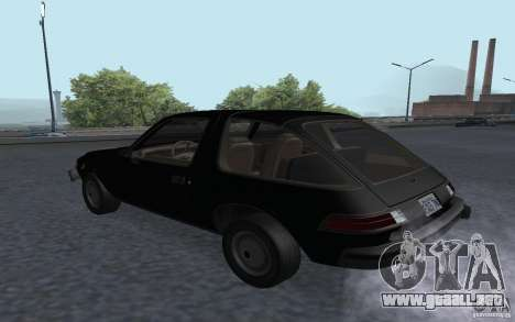 AMC Pacer para GTA San Andreas left